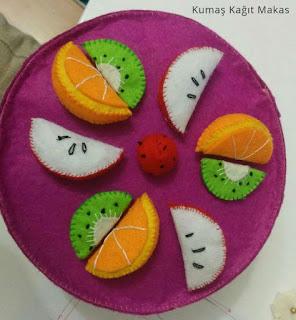 felt toy cake