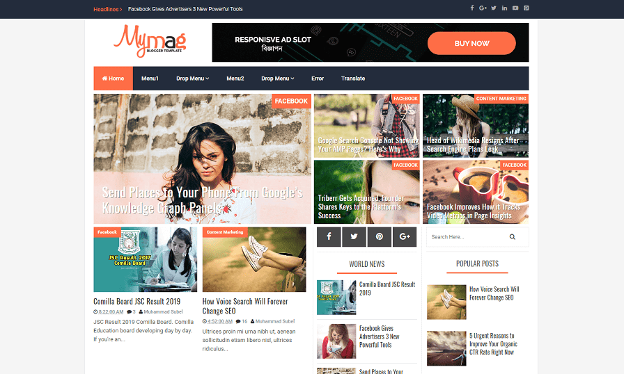 My Mag - Best Responsive Blogger Template