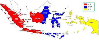 Permalink ke Pembagian Waktu di Indonesia (WIB, WIT, dan WITA)