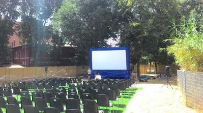Proiezione per rassegna film cinema all'aperto