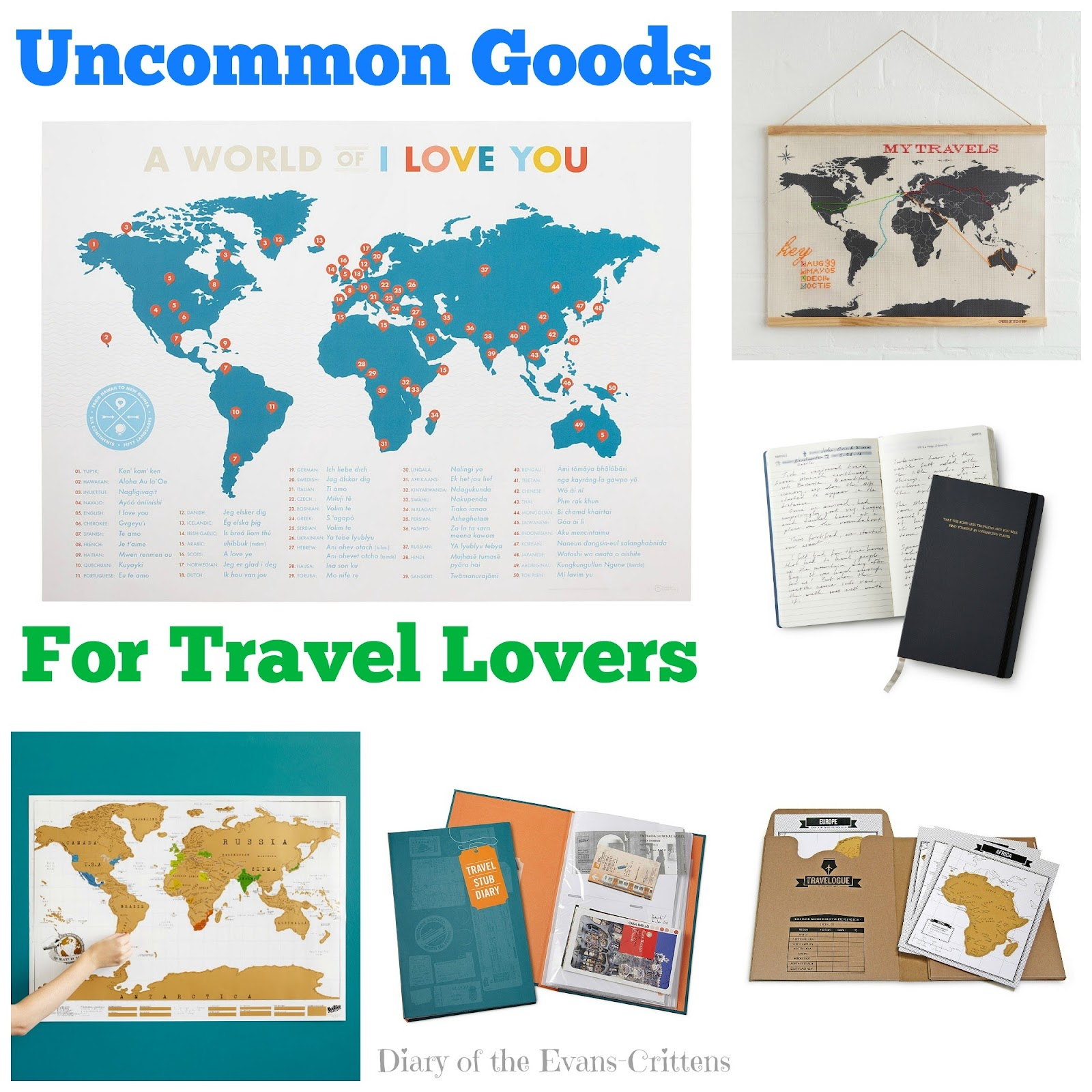 , Uncommon Goods:  Great Gifts for Travel Lovers