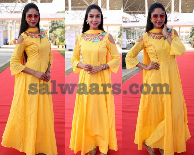 Angana Roy Yellow Salwar