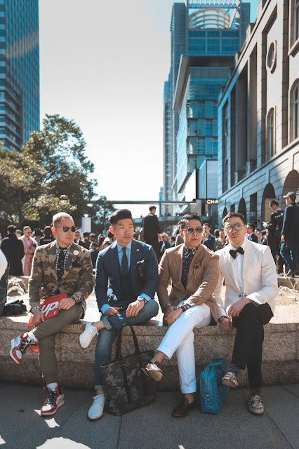 Wil Fang, Leo Chan, Mr Gumbatron, and Matthew Chu at Suit Walk