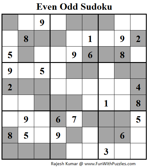 Even Odd Sudoku (Fun With Sudoku #110)
