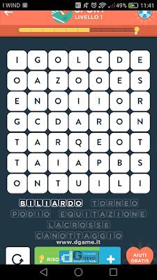 WordBrain 2 soluzioni: Categoria Sport (7X7) Livello 1
