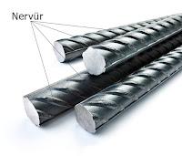 Nervürlü inşaat demirlerinin nervür tırtıklarının gösterimi