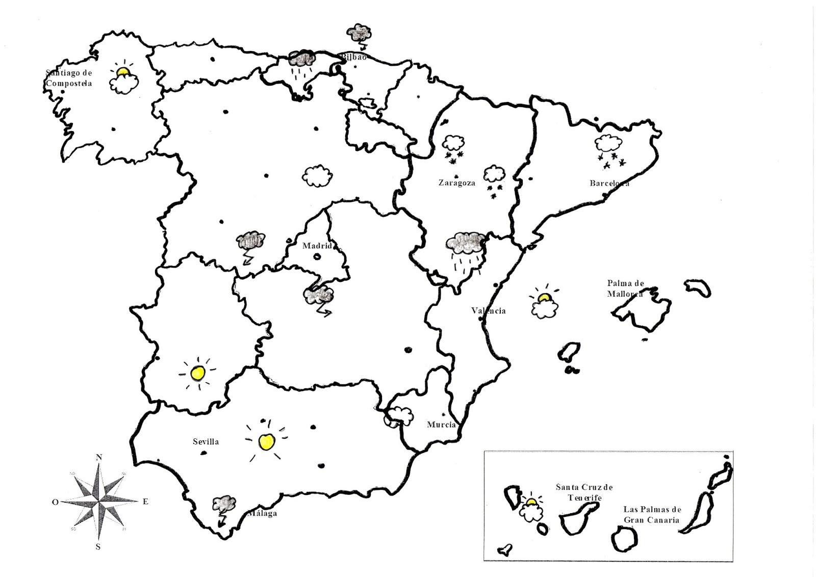Marca Del Mapa Símbolo De Ios 7: Lengua Magica En El Rosario: Los Símbolos Meteorológicos