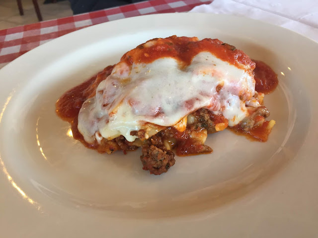 Meat Lasgana at Dolce Italian Caffe and Bakery in Arlington Heights
