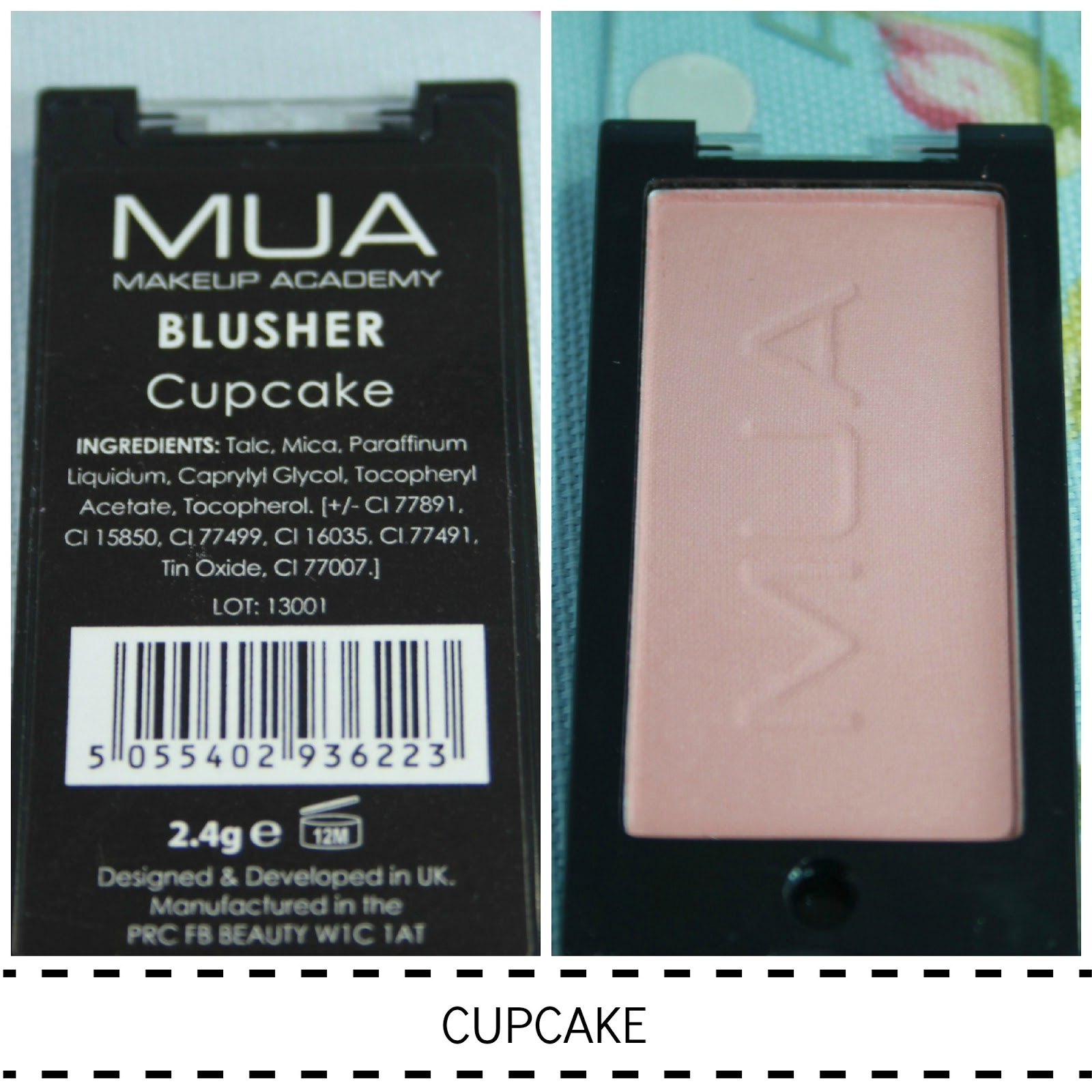 MUA POWDER BLUSHER SWATCH CUPCAKE