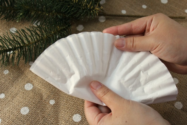 Sparkling Angel Wing Ornaments From Coffee Filters