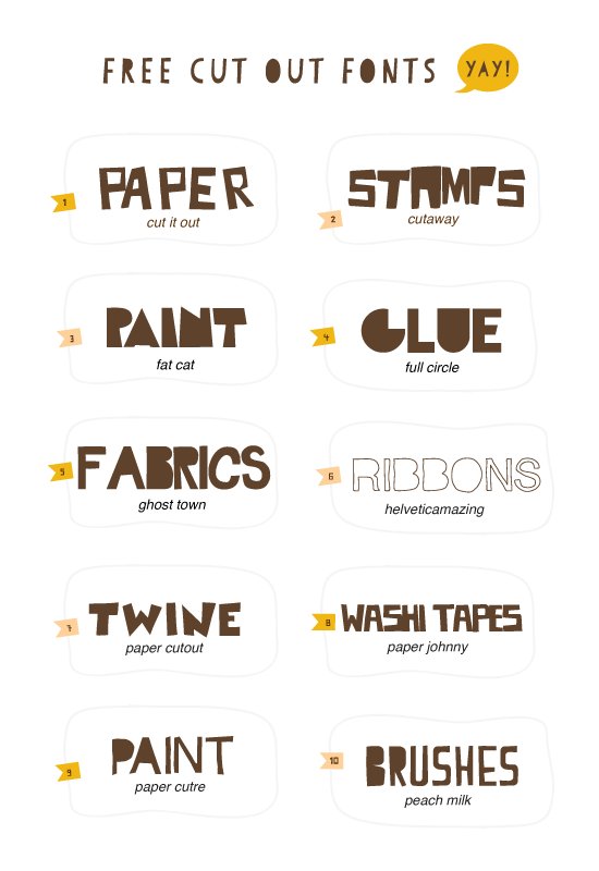 Hello!: 10 Free Cut Out Fonts