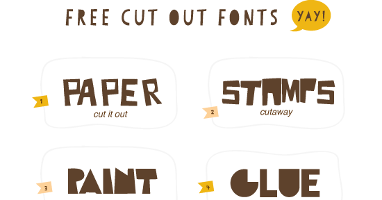 cut out letters hello 10 free cut out fonts 21291 | Free Fonts OHD03