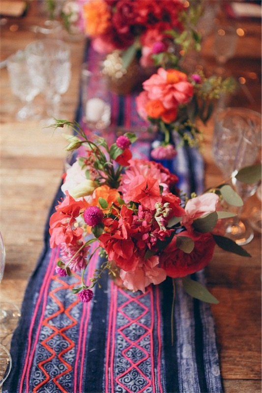 camino de mesa estampado etnico para boda chicanddeco