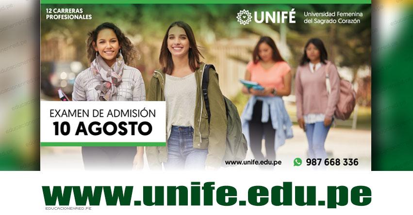 Resultados UNIFE 2019-2 (Sábado 10 Agosto) Lista de Ingresantes - Examen Admisión Ordinario - Universidad Femenina del Sagrado Corazón - www.unife.edu.pe