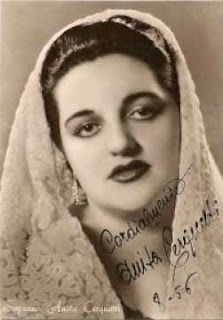 A publicity shot of Anita Cerquetti  taken in the 1950s