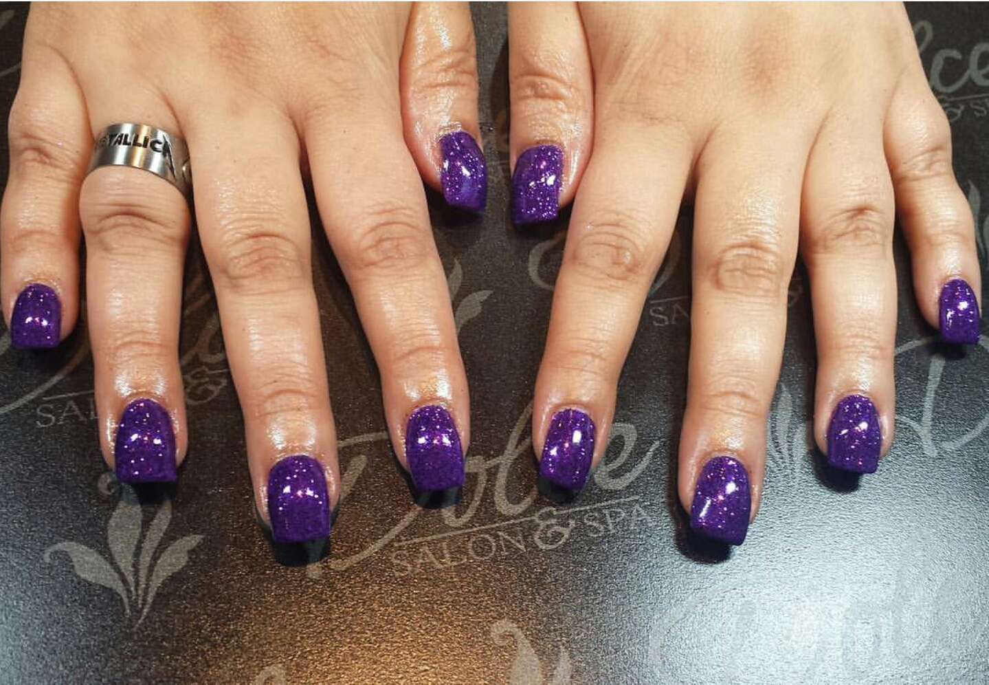 The First Polish I Got Was Actually Just A Ton Of Loose Purple Glitter With Gel Top Coat Super Sparkly