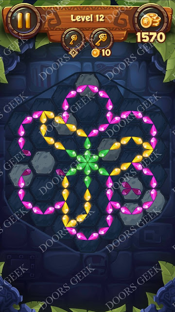 Gems & Magic [Aquamarine] Level 12 Solution, Walkthrough, Cheats
