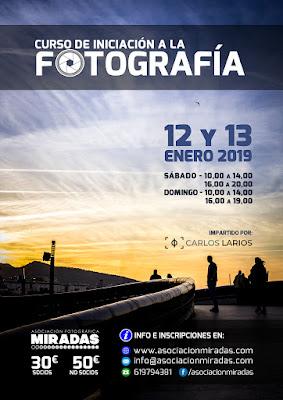 Curso presencial de iniciación a la fotografía en Ceuta. Enero 2019