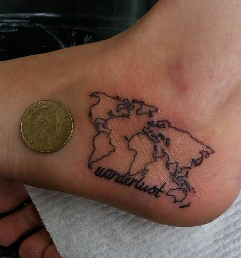 World Map Tattoos