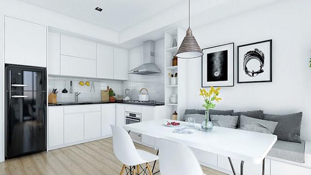 Những ý tưởng sáng tạo khi thiết kế nội thất phòng bếp chung cư