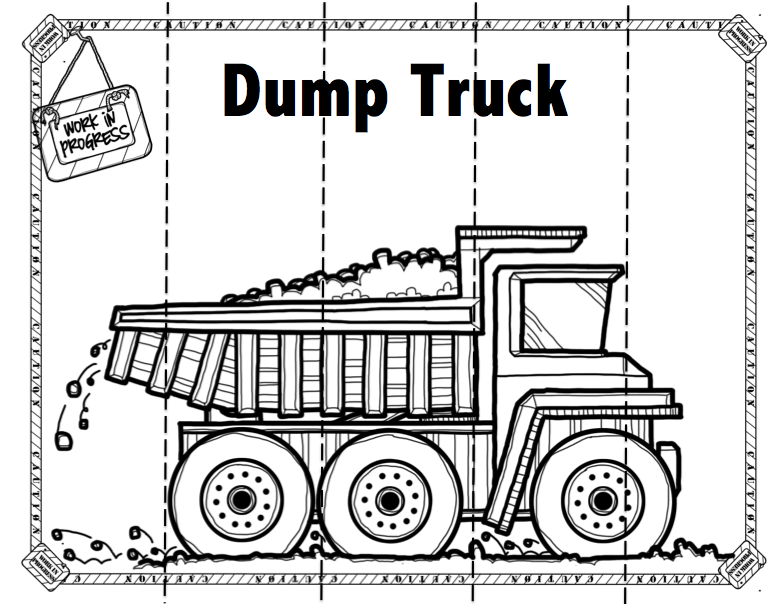 Construction Machines Puzzles and More ~ Preschool Printables