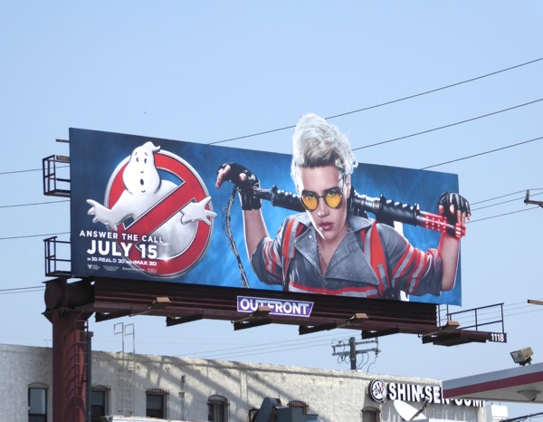 Ghostbusters Kate McKinnon movie billboard