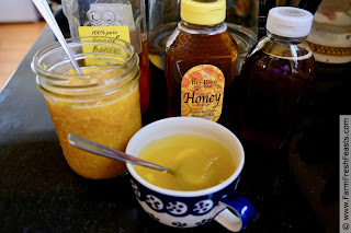 use a spoonful of Honey Citrus Throat Soother mixed with warm water to soothe your throat