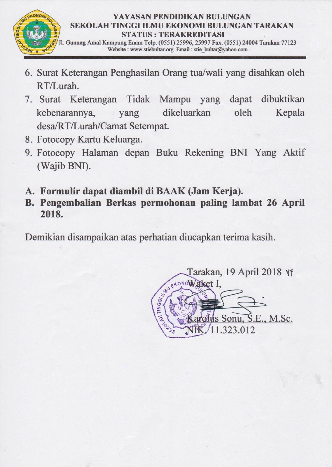 Contoh Surat Pernyataan Tidak Mampu Dari Orang Tua ...