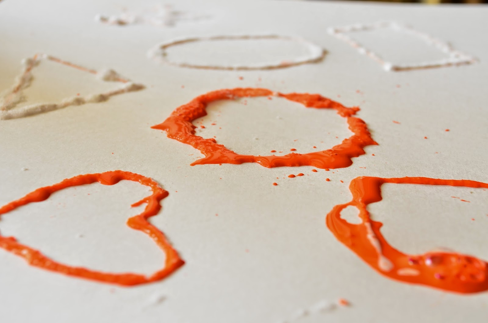 13 Non-Traditional Art Supplies for Preschoolers: Salt: Learning Shapes