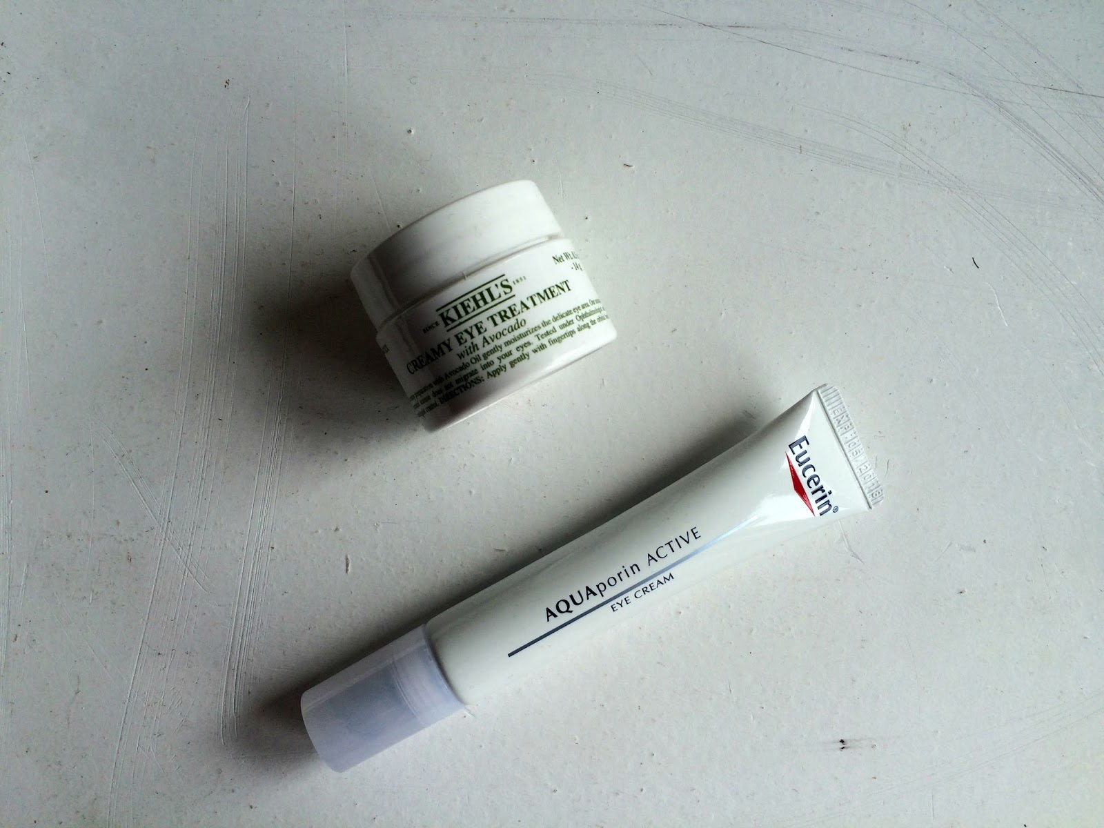 Eye creams kiehl's avocado treatment and eucerin aquaporin active revitalising eye care