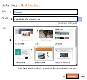 cara membuat blog gratis di blogger milik google