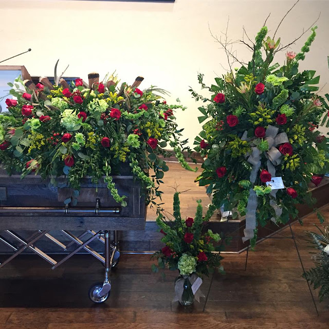 hunting themed flower arrangments