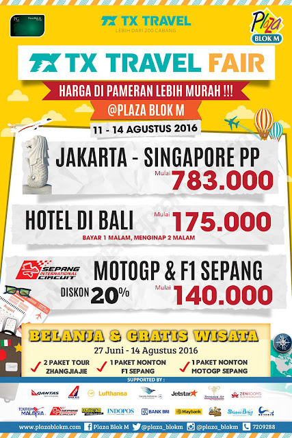 Jadwal TX Travel Fair di Plaza Blok M