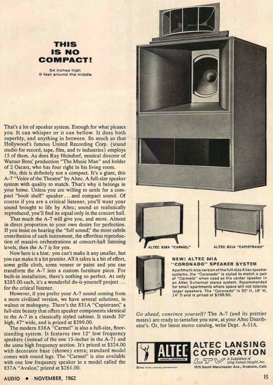 retro vintage modern hi-fi: Altec