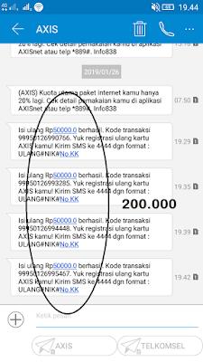 Bukti Pembayaran Pulsa Gratis 200 Ribu dari Aplikasi Akulaku