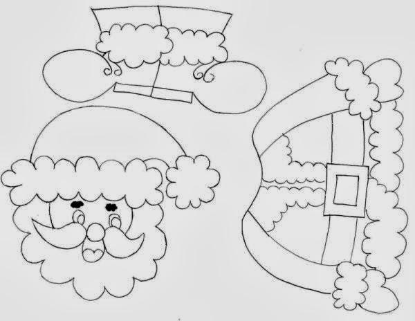 Baú Da Web: Papai Noel Para Recortar E Montar