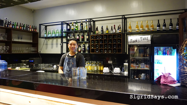 Farm to Table - Iloilo restaurant - the bar