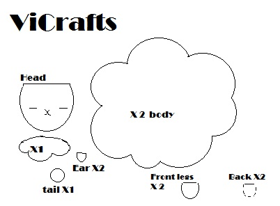Template for the sheep plushie :) | ViCrafts