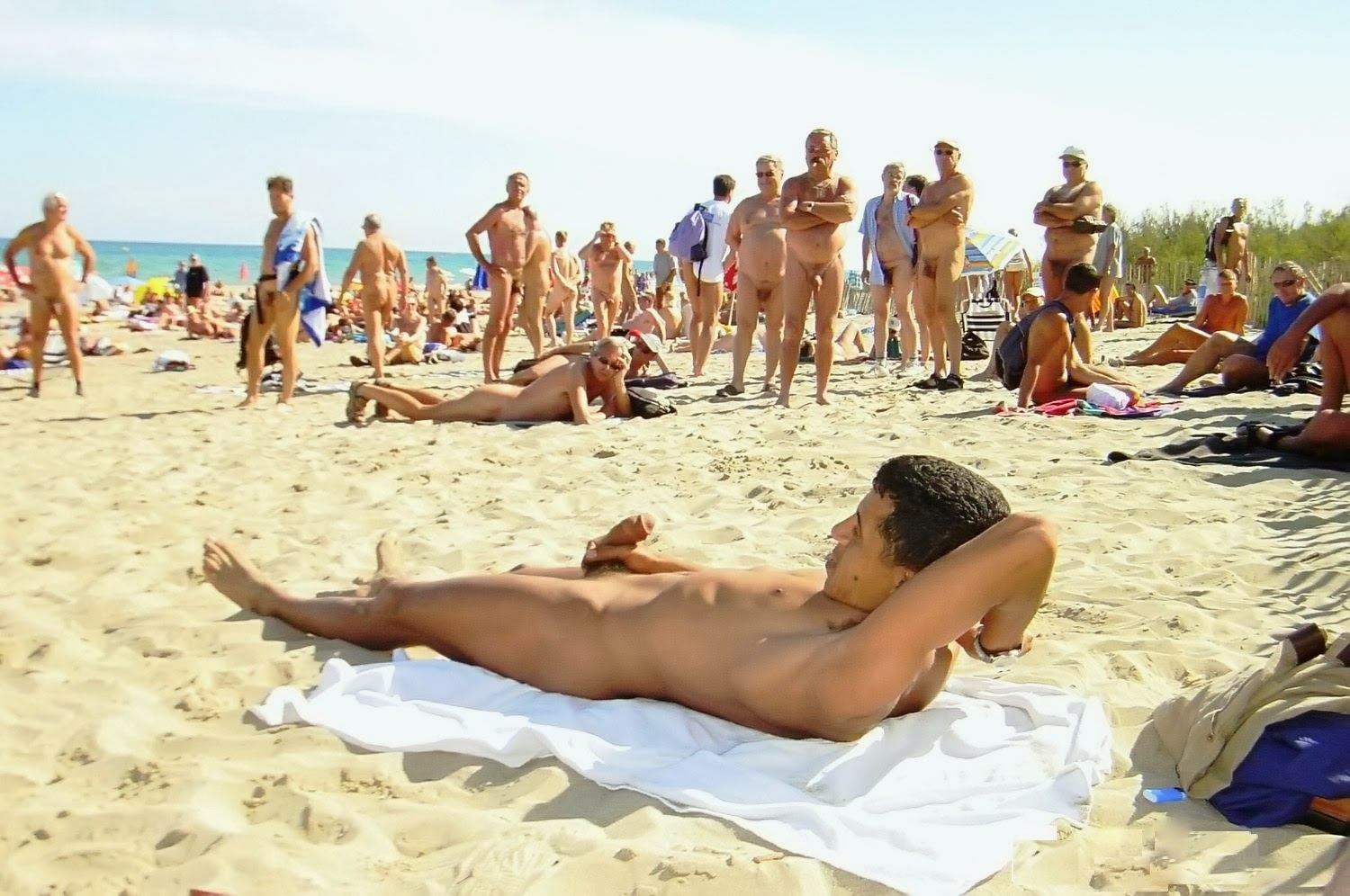 Naked Male In Beach