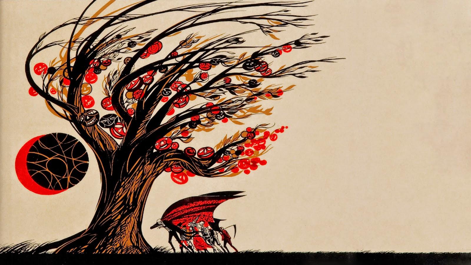 Neato Coolville Halloween Wallpaper Ray Bradbury S The