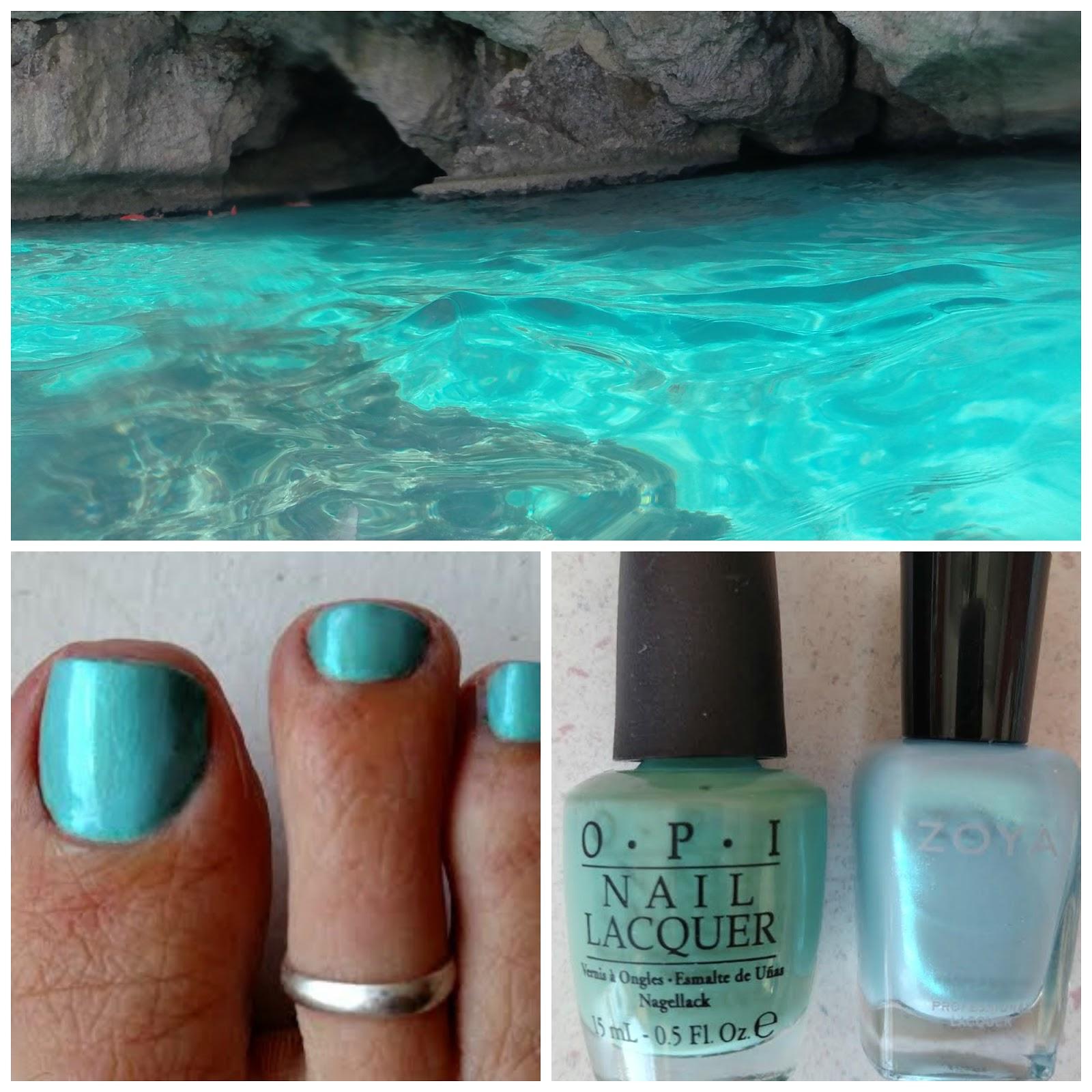 Blue Green Nail Polish