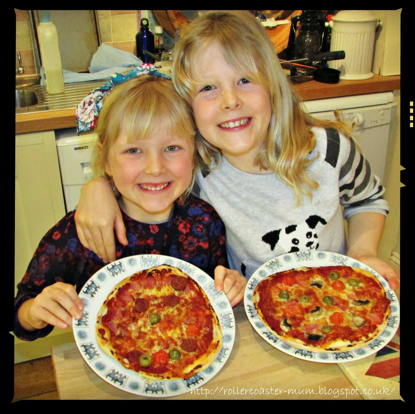 home-made pizza - much better than from the shops!