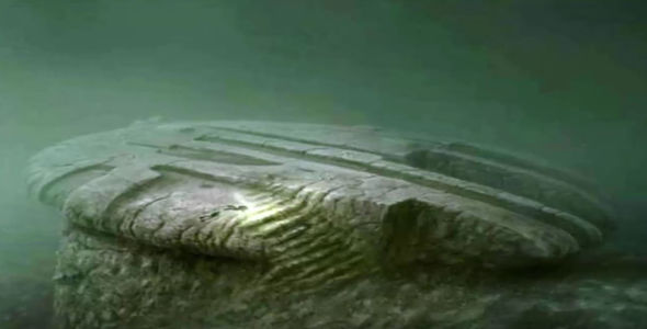 Artist impression of the Baltic sea anomaly underwater crashed UFO