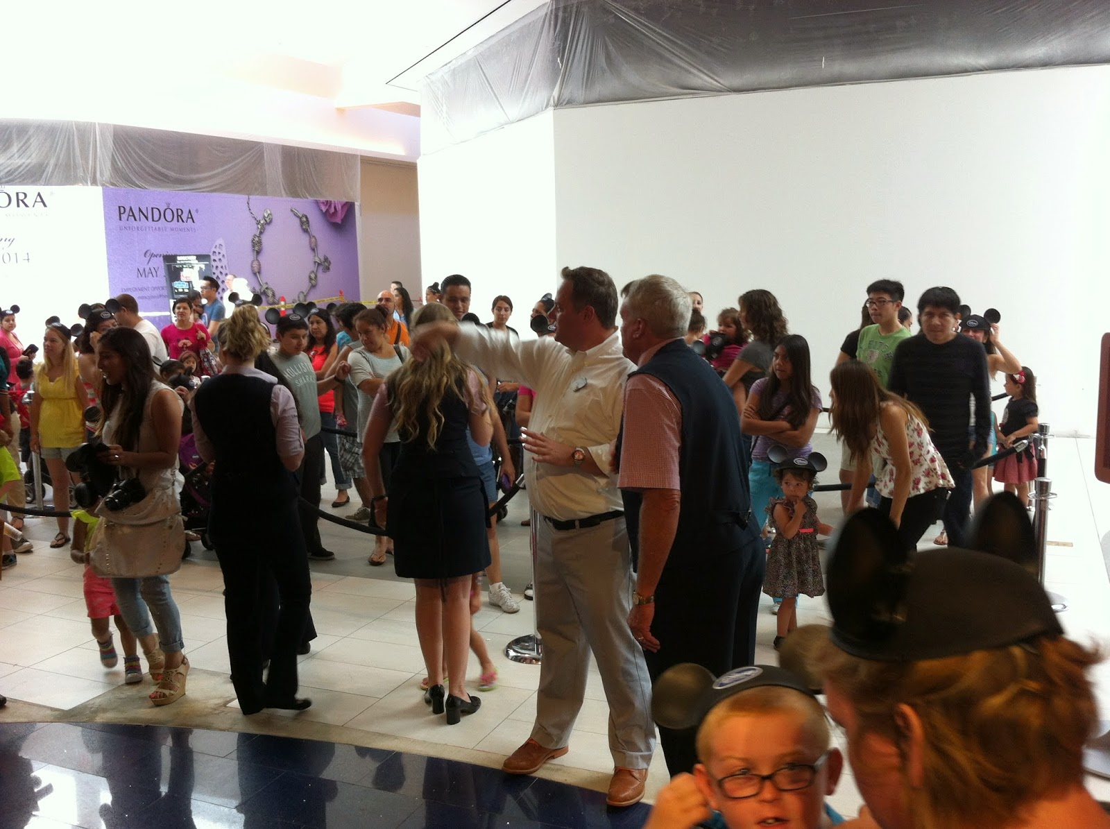 flawlessly freckled family grand re opening of disney store del amo my son and i were invited to take part in this celebration and boy what a big celebration it was there was a line of people waiting to see the magic and