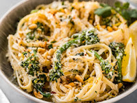 EASY CREAMY LEMON BROCCOLI PASTA