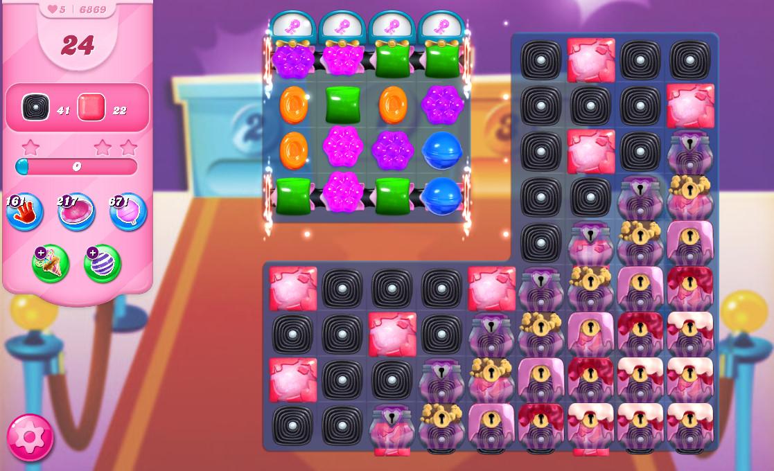 Candy Crush Saga level 6869