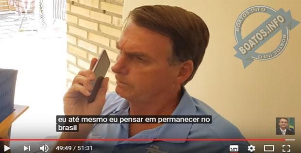 Bolsonaro diz que sai do Brasil se perder eleição
