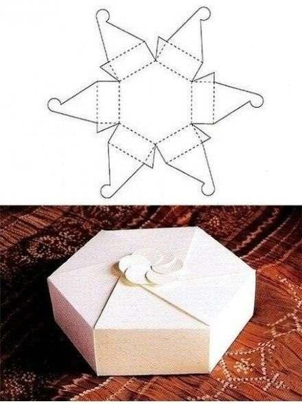 Kreasi kotak kado segi lima unik
