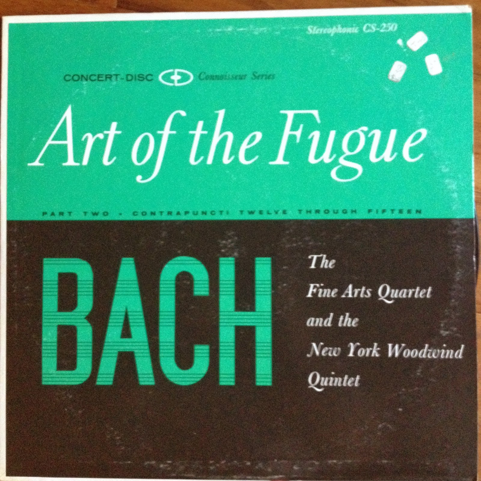 LP Bach: Art of the Fuge part 2