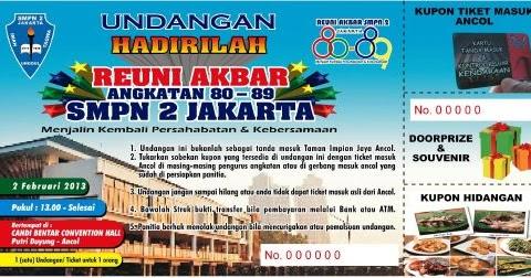 Contoh Undangan Reuni Akbar Forum Alumni 80 89 Smpn 2 Mardani